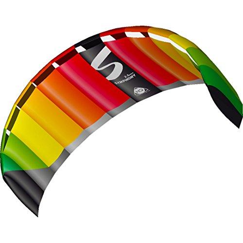 Invento 11770550 - Symphony Pro 2.5 Rainbow Zweileiner Lenkmatten, Ab 14 Jahren, 73 x 250 cm Ripstop-Nylon 2-6 Beaufort