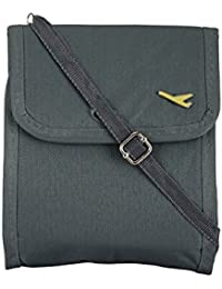 Passport Sling Bag By House Of Quirk Travel Pouch - Black