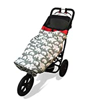 Wheelchair RAIN Cover | Universal, Lightweight, Compact, 100% Waterproof | fits All Kids Manual and Powered wheelchairs or Special Needs Buggies. Stunning Designs (Sage Polar Bear)