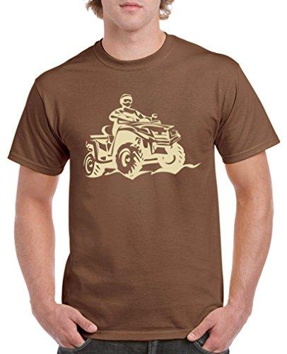 Comedy Shirts - Quad ATV - Herren T-Shirt - Braun/Beige Gr. XXL