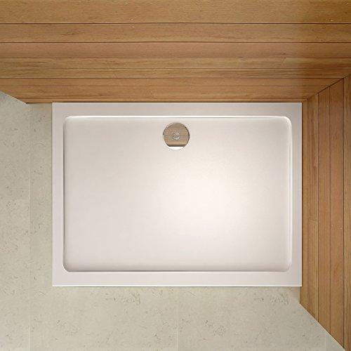 Receveur de douche 90 * 100cm estra plat rectangulaire bac à douche