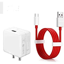 Case Plus Dash Charger Adapter & Type C Cable for One Plus 6T (100% Dash Charging Supported) (Adapter & Cable)