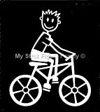 My Stick Figure Family - Mis Pegue la figura familia de coches pegatina de vinilo ventana Padre en bicicleta M17
