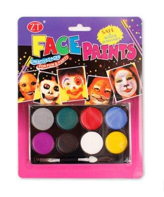 (SimpleLife Gesicht Körperbemalung Kunst Make-up Kit Halloween Party 8 Farben Zufällig 21.5x17x1cm)