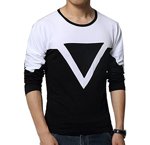 "Style Shell ""Premium (Bio Wash)"" Men's Black Triangle Full Sleeve Cotton T-shirt (Black, Medium)"