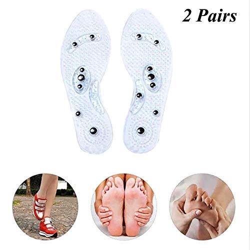 sage MindInSole Akupressur Magnetische Massage Fußtherapie Fußreflexzonenmassage Schmerzlinderung Schuheinlagen 2 Paar Waschbar Eine Größe für alle Männer und Frauen ()