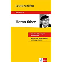 Klett Lektürehilfen Homo faber: für Oberstufe und Abitur - Interpretationshilfe für die Schule