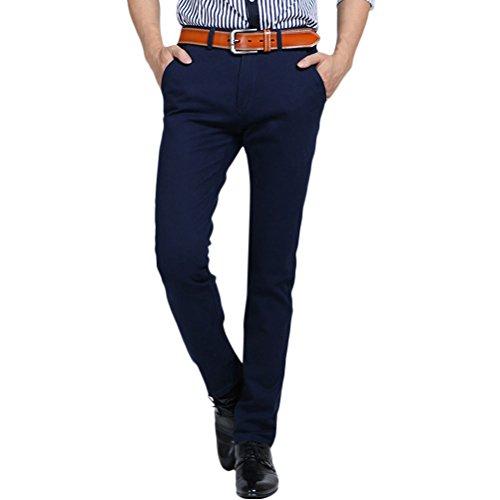 Zhhlaixing Herren Stretch-Freizeit hosen Slant Pocket Regular Classic Straight Pants Slim Lightweight (Slant Pocket Pant)