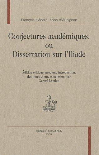Conjectures académiques ou Dissertation sur l'Iliade