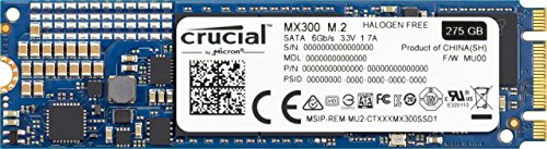 Crucial MX300 CT275MX300SSD4 275 GB Internes SSD (3D NAND, SATA, M.2 Type 2280)