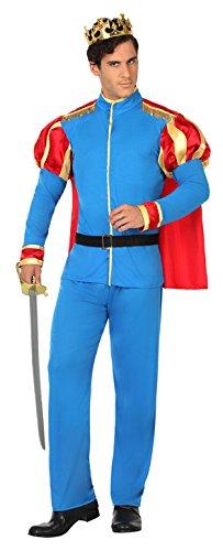 Atosa Disfraz príncipe de cuento Color celeste M-L 15559