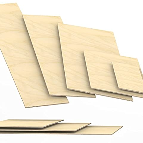 6mm Plywood Sheets cut to size up to 150 cm length multiplex board cuttings: 80x80 cm