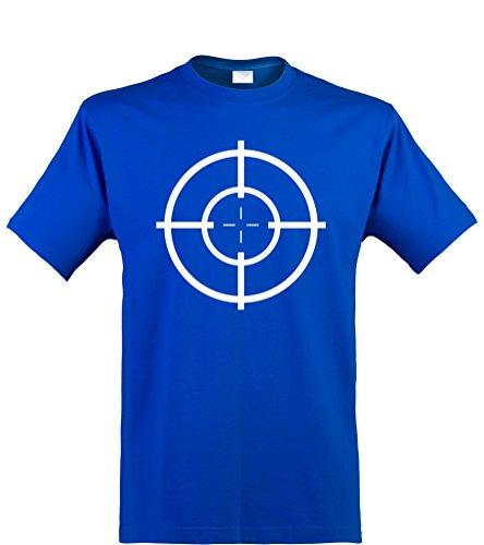 ren T-Shirt, Zielscheibe / Target, royal, Gr. XL (Damen Halloween T-shirts-ziel)