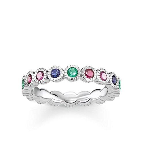Thomas Sabo Damen-Ringe 925 Sterling Silber Künstliche Perle \'- Ringgröße 56 (17.8) TR2145-322-7-56
