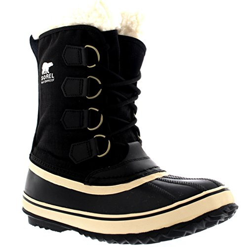 Sorel Damen Schnee (Sorel Damen Winter Carnival Schnee Regen Wolle Wasserdicht Stiefel - Schwarz - 40)
