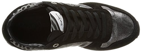 Pepe Jeans GABLE URBAN, Low-Top Sneaker donna Nero (Schwarz (999BLACK))
