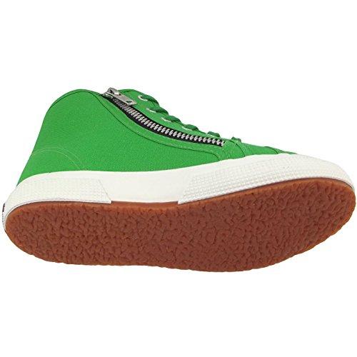 Superga  2795-Cotj, Pompes à plateforme plate Unisexe - enfant vert (island green)