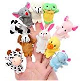 Kuhu Creations Animal Finger Puppet, Multi Color (Pack of 10)