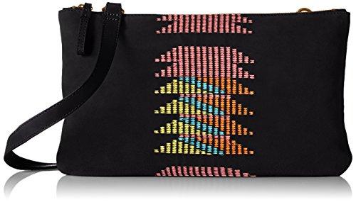 Liebeskind Berlin Carol embroidery/suede leather Carol embroidery/suede leather Damen Umhängetaschen 50x50x50 cm (B x H x T) Schwarz (black 9999)