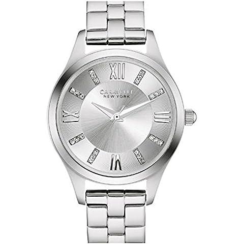 Caravelle 43x 101da donna in acciaio inox argento Bracciale Quadrante Argento Smart Watch