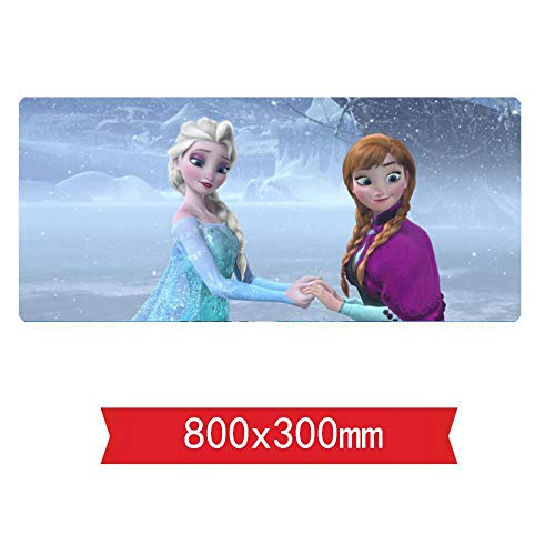 IGIRC Mauspad,Frozen Cartoon Speed Gaming Mouse Pad   XXL Mousepad  800 x 300mm Large Size  3mm-Thick Base   Perfect Precision and Speed, P