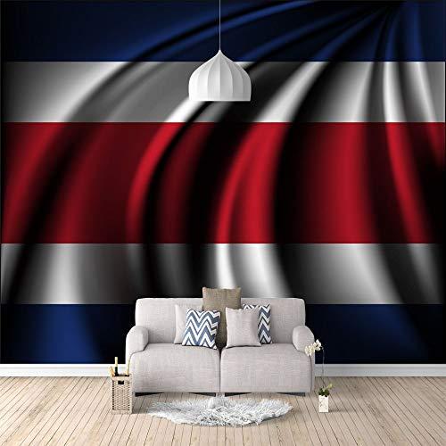 Moderne 3D Wallpaper Mural Wallcoverings Costa Rica Hochwertige Selbstklebende Wandbilder Für Schlafzimmer Wohnzimmer Fernsehhintergrund,400Cm(W) X200Cm(H)-8 Streifen