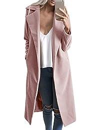 Sentao Mujer Elegante Chaqueta Larga Vintage Slim Abrigo Trench Coat Blazer Jacket Outwear