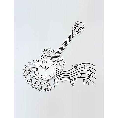 JIA&YOU Quadrato / Novit¨¤ Moderno/Contemporaneo Orologio da parete,Floreale / Caratteri / Scene / Musica / Matrimonio / Famiglia Vetro / Metallo