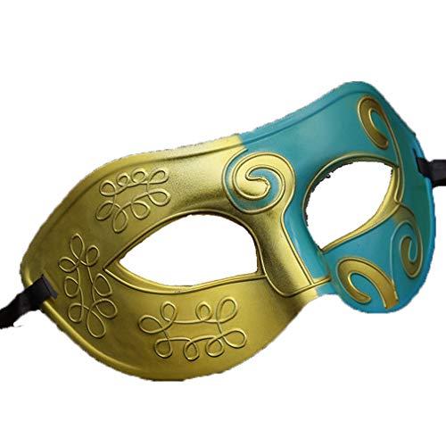 Tanz Kostüm Guy - AND Kunststoff Jazz Prinz Maske Tanz führt Herren Halbgesicht Halloween Props Ball Maske