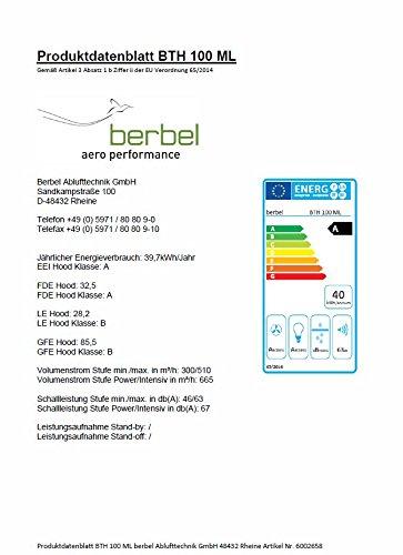 Berbel Tischlifthaube Moveline BTH 100 ML 1030101