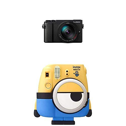 Panasonic Lumix GX9 Systemkamera mit Objektiv 14-140 mm und Fujifilm Instax Mini 8 Minion