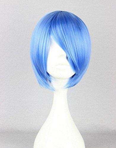 Beauty Smooth Hair Stilvoll Kurz Blau Gerade Haar Peruecke fuer Frauen Cosplay Peruecke COSL1024