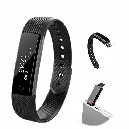 Nuovo smartwatch Clever per fitness, orologio con monitoraggio del sonno e delle attività, impermeabile, pedometro da polso, contatore di calorie, bracciale sportivo compatibile con iPhone e Android per donne, uomini e ragazze