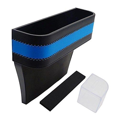 Sunsline Multifunktional Autositz Gap Aufbewahrungsbox Car Seat Gap Storage Box Organisieren für Telefon Karte Schlüssel (Blau) (Anzeige Storage Box Organisieren)