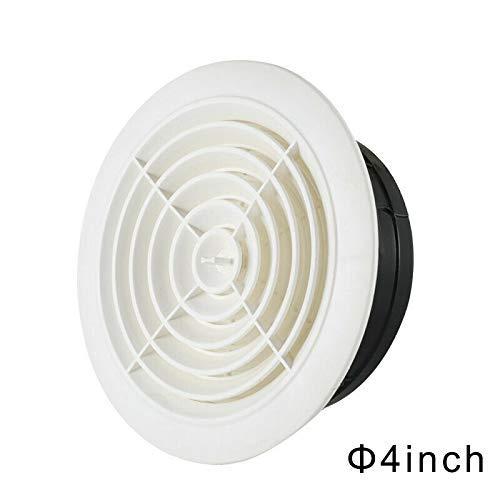 AoJuy Runde Lüftungsgitter-Abdeckung für Lüftungsschlitze, ABS, verstellbare Abluftöffnung für Badezimmer Büro - 10,2 cm -
