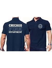 Polo Chicago Fire Dept., avec inscription Maltese Cross avant et arrière
