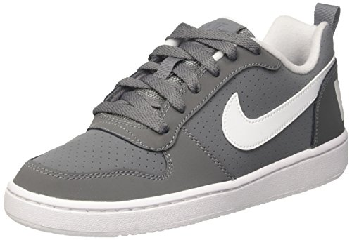 Nike Unisex-Kinder Court Borough Low Basketballschuhe, Grau (Cool Grey/white), 38 EU