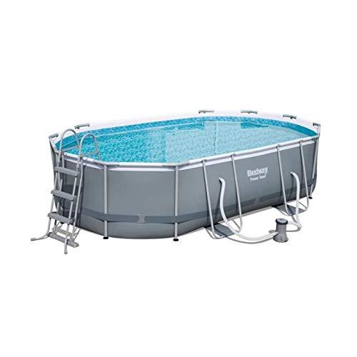Bestway Power Steel Oval Pools, Grey