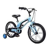 Kinderfahrräder Jungenfahrrad 3-6-8 Jährige 16 Zoll Fahrrad Geschenk des Kindes Blaue Fahrräder Kinder-Dreirad Sportfahrrad (Color : Blue, Size : 16inches)