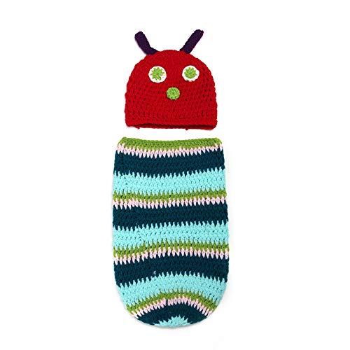 W&P wp Neugeborene Fotografie Kostüm Schlafsäcke für handgewebte Caterpillar