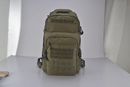 YAKEDA® taktische Rucksack, Sport Rucksack, Militärrucksack mit Molle System --BK-4 (Militär grün) Militär grün