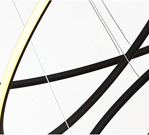 Saint Mossi® Exklusiv Entwurf Modern Kronleuchter Lüster Hängelampe Pendelleuchten LED Deckenleuchte Drei Stufe Leuchter Aussehen Einstellbar LED Lichtquelle Integriert - 7