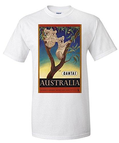 qantas-australia-vintage-poster-artist-mayo-eileen-australia-c-1953-premium-t-shirt