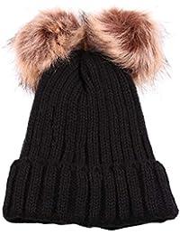 Amazon.es  gorros de lana con pompon - 4108426031  Ropa 258ed884ed1
