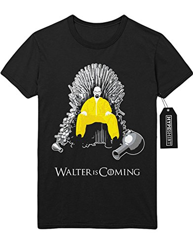 T-Shirt Walter is Coming Game of Thrones Breaking Bad Mashup C980061 Schwarz (Kostüme Breaking Kinder Bad)