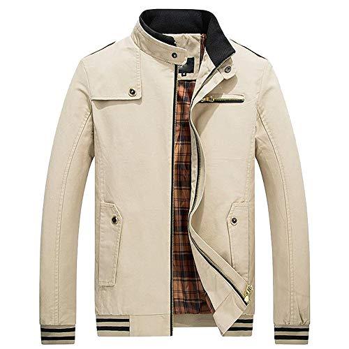Hommes Chaud Cardigan GlissièRe avec Poche Manteau Hiver Autumne Veste Casual Sweatshirt Sport Pullover Blouse Blouson Pardessus Kaki XL