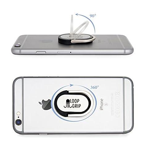 Loopgrip Stand 360° Ring Fingerhalterung Schwarz Handy-Halterung iPhone Finger-Halter Samsung