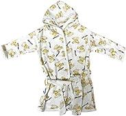 OZYOL Albornoz para bebé con capucha de algodón – 0 – 1 años – Toalla de baño de rizo – absorbente para niños