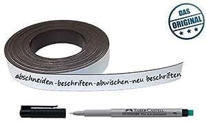5m magnetrolle wei m stift beschreibbar k hlschrank regale magnete schilder baumarkt. Black Bedroom Furniture Sets. Home Design Ideas