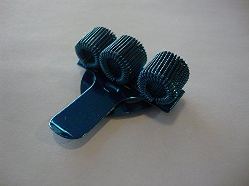 1 x azzurro, TREBLE-Portapenne triplo con CLIP da tasca, ideale per infermieri, dottori